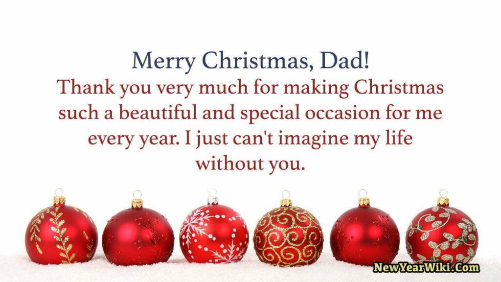 Christmas Wishes for Father