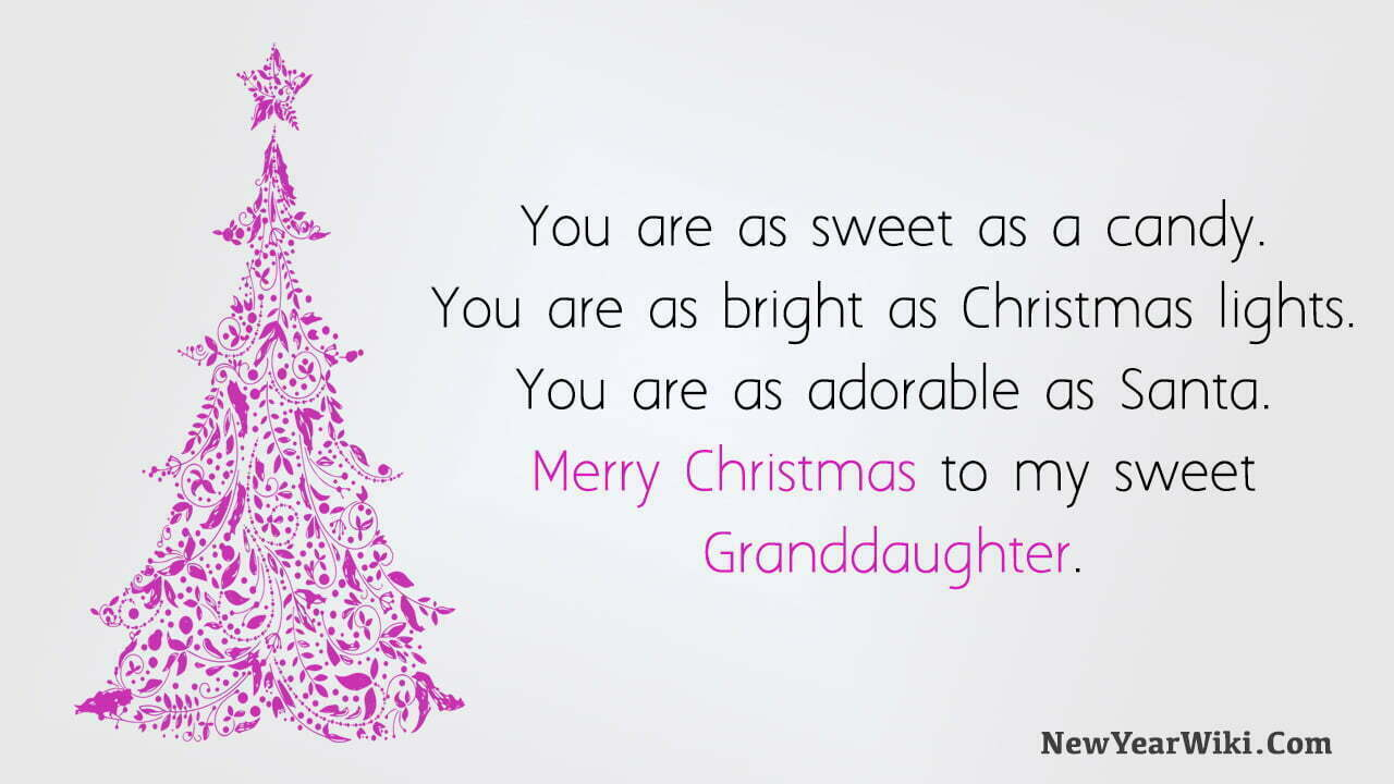 Christmas Wishes for Granddaughter
