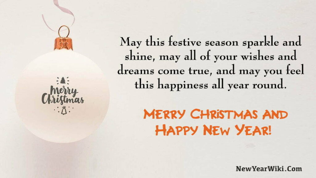 Christmas and New Year Messages