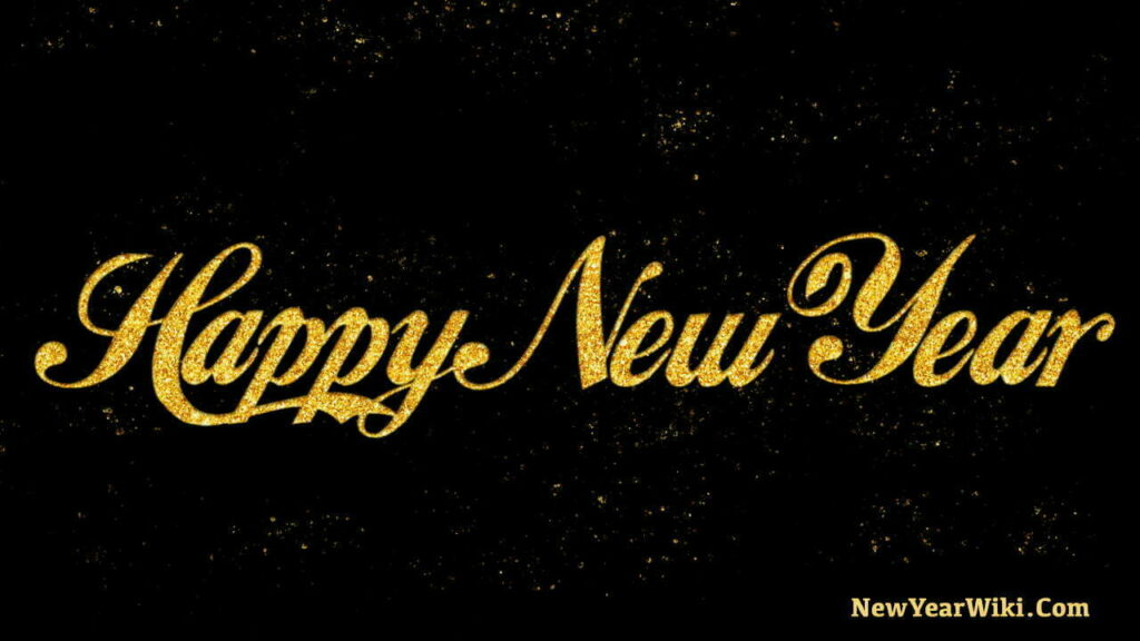 Happy New Year Gold Glitter Image