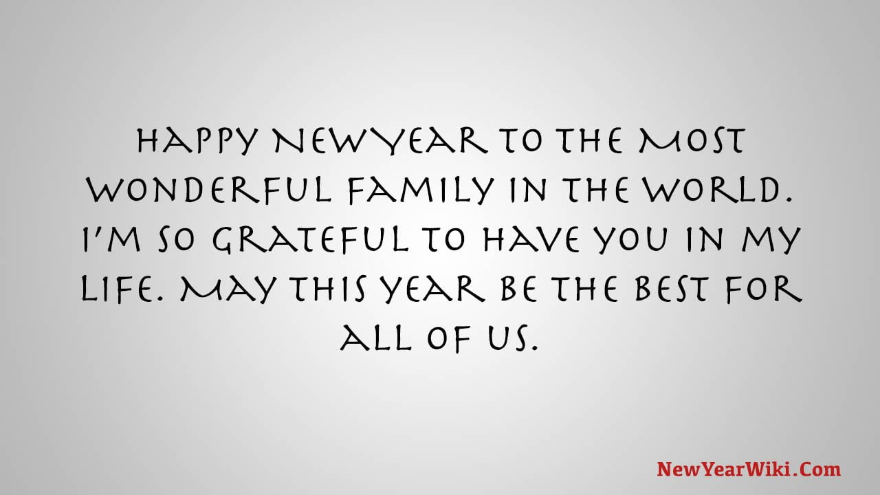 Happy New Year Message For Family