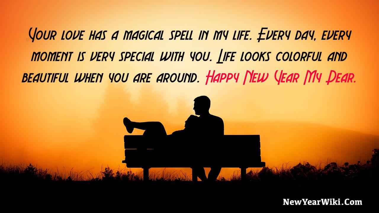 Happy New Year Message To Boyfriend