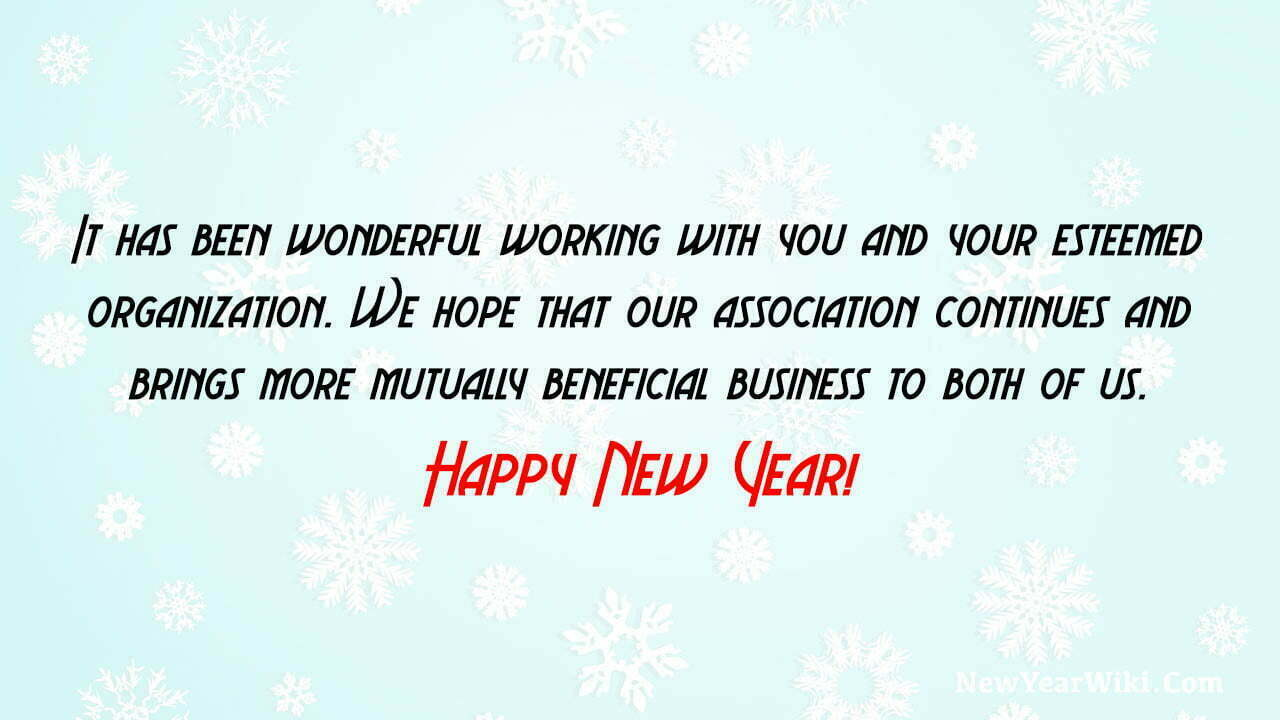 Happy New Year Message To Clients