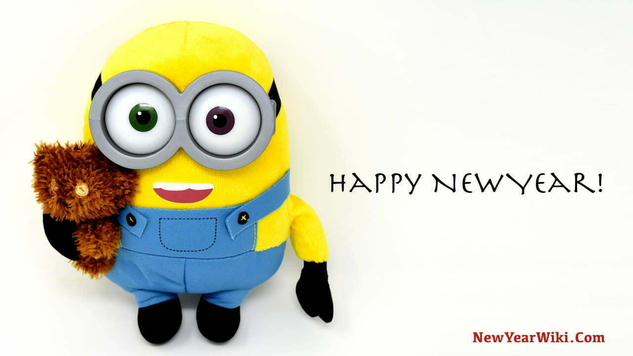 Happy New Year Minion Cartoon