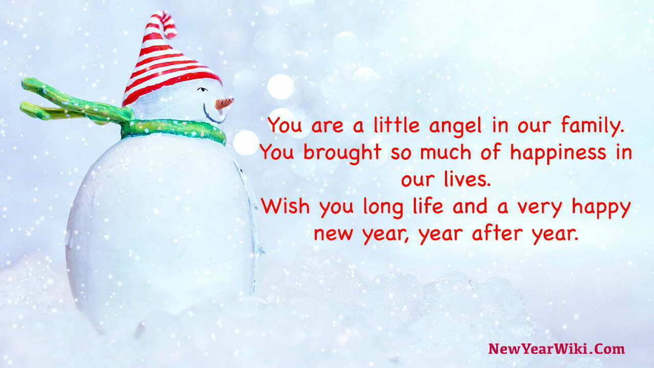 Happy New Year Wishes for Granddaughter