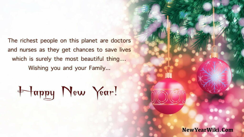 Happy New Year Wishes for Nurses