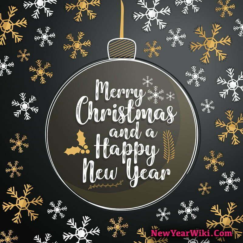 Merry Christmas and Happy New Year WhatsApp DP