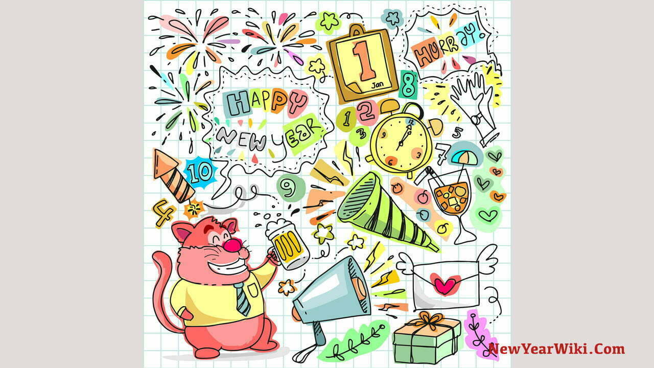 New Year Cartoon Images