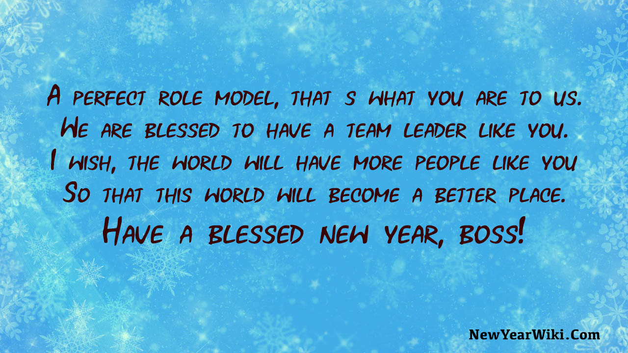 New Year Message To Boss