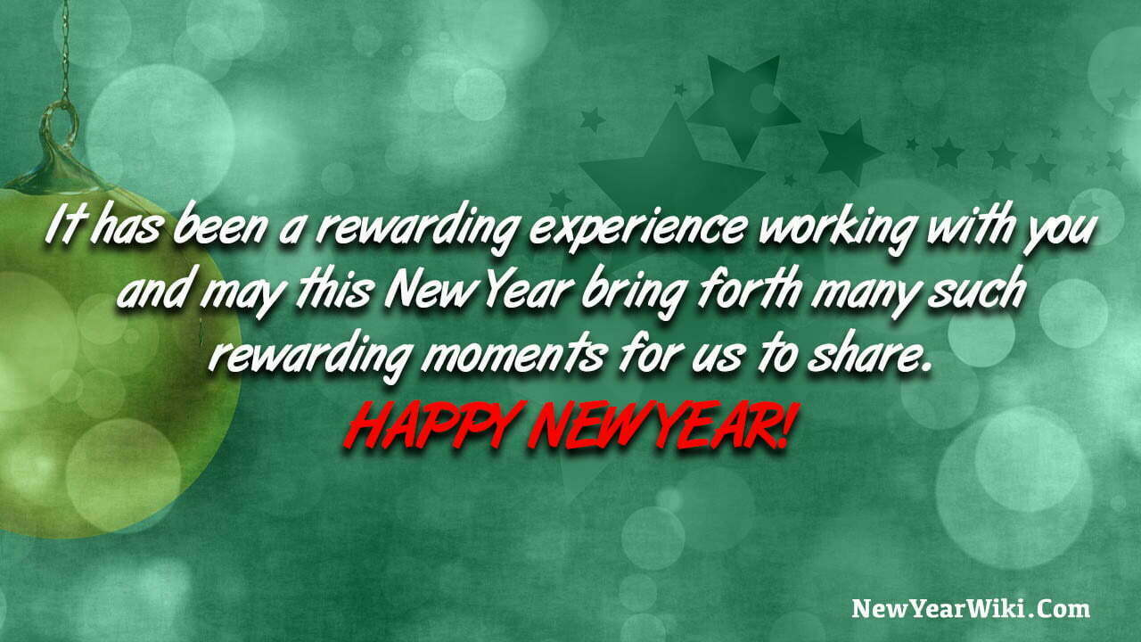New Year Message To Clients