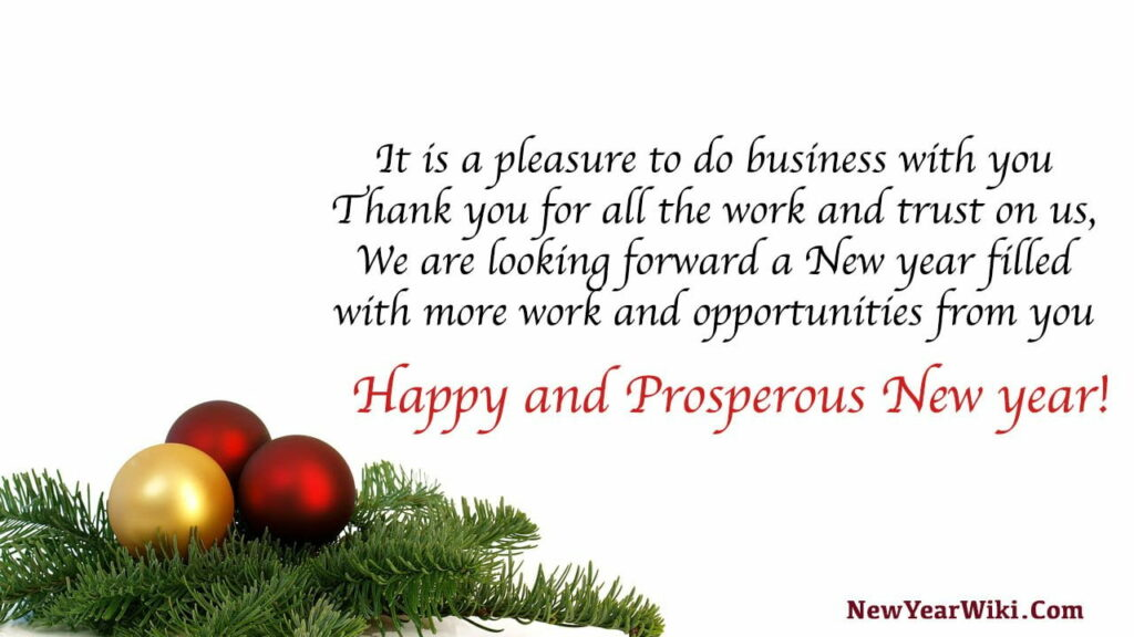 New Year Wishes For Business Clients