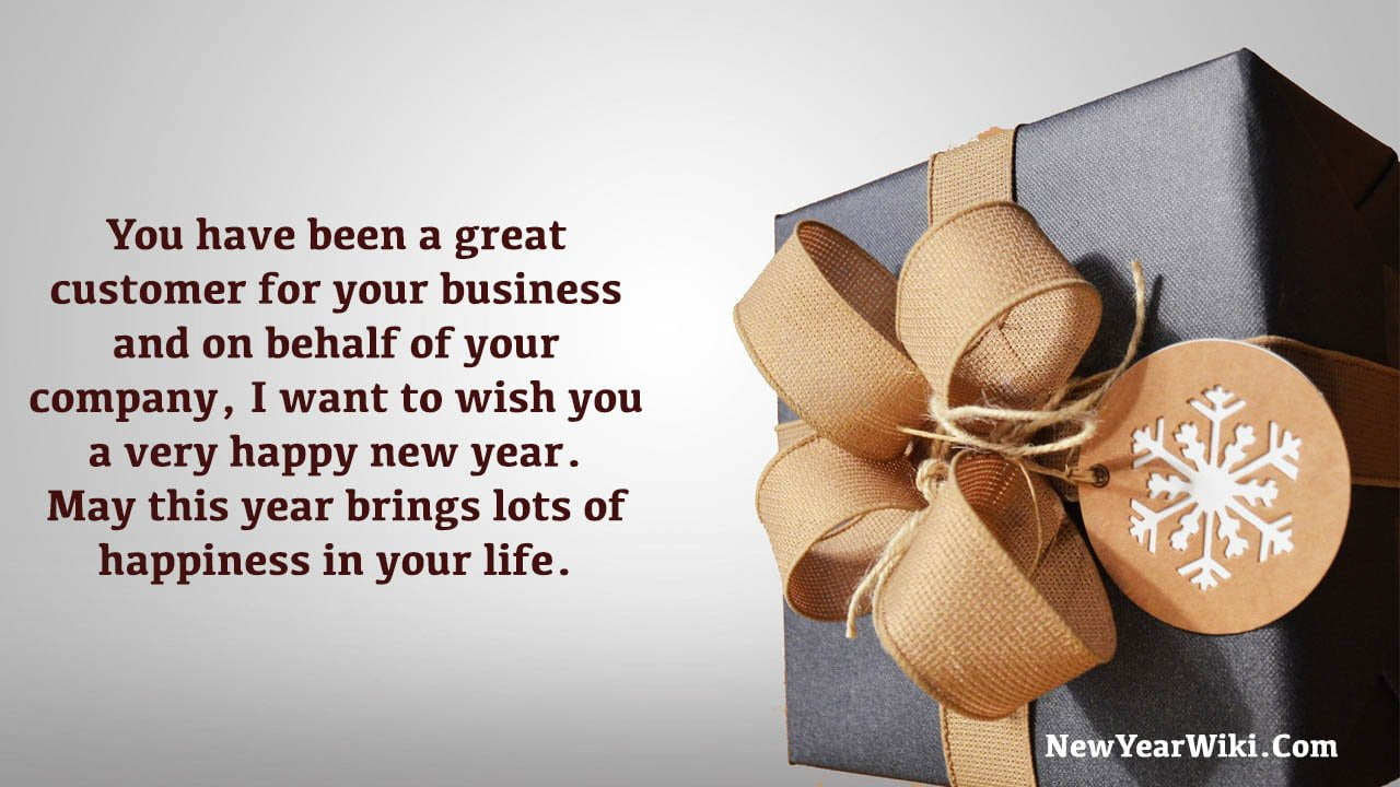 New Year Wishes For Customers