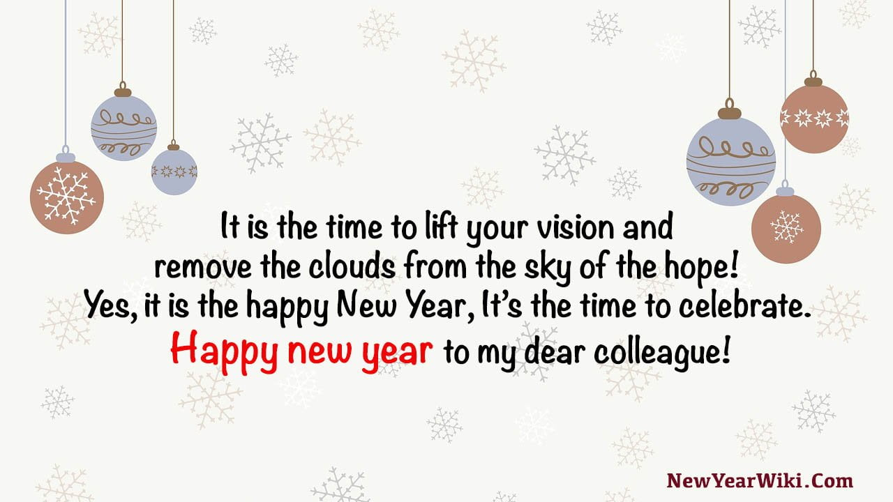 New Year Wishes To Colleagues