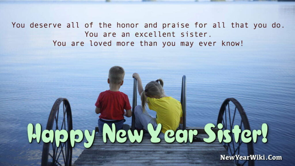 New Year Wishes for Sister