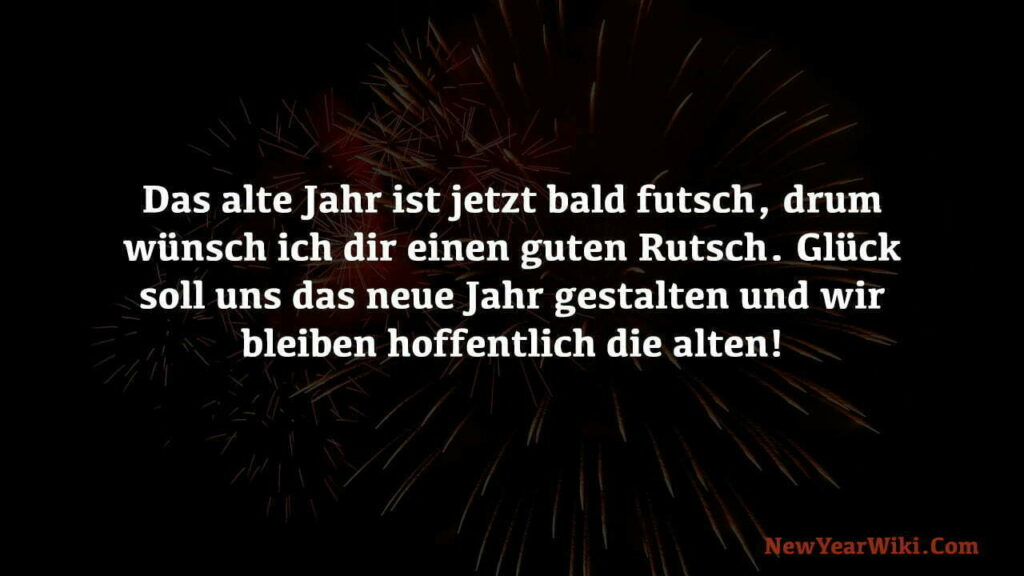New Year Wishes in German